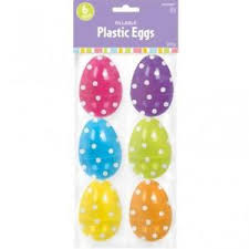 large fillable easter eggs large plastic polka dot fillable easter egg hunt decorations x 6