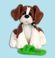 beagle personalized ornament handmade polymer clay