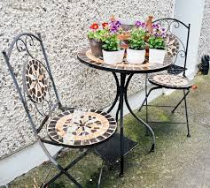 Remove Rust From Metal Furniture by Painting Rusty Metal Garden Furniture The Dainty Dress Diaries