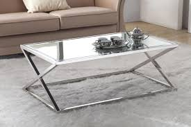 mirrored end table set coffe table stunning mirrored coffee table set smoked glass gold