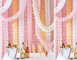 pink garland hanging garland pack of 8 white and pink four leaf