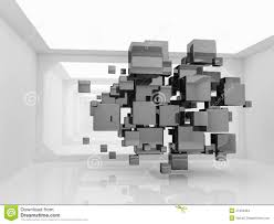 abstract cubes in futuristic room stock images image 21904964