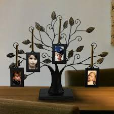 4 opening decorative iron tree table top collage picture frame