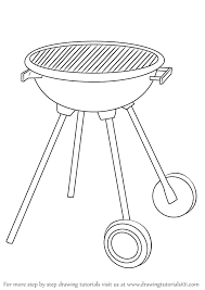 learn how to draw a bbq grill everyday objects step by step