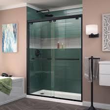 Black Shower Door Dreamline Encore 56 In To 60 In X 76 In Framed Sliding Shower