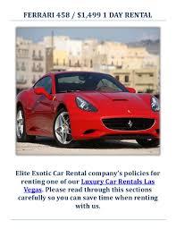 458 rental las vegas elite car rental luxury car in las vegas