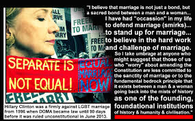 Anti Gay Marriage Meme - fact hillary clinton was on record against lgbt marriage equality