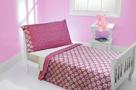 Pink Toddler Bedding Pink Flowers Pattern Toddler Bedding Set For Gilr Bedroom In Pink