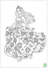 coloring child princess barbie princess