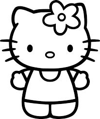 hello kitty basic bold coloring page wecoloringpage