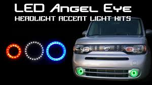 nissan cube interior lights led angel eye headlight accent light kits youtube