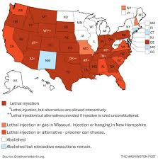 map usa penalty map how each state chooses to execute its row inmates the