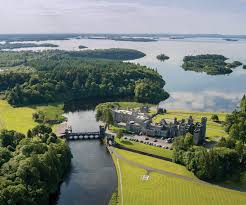 plan a trip to the emerald isle or hear irish tunes locally the beautiful grounds at ashford castle are bordered by the cong river and the northern bank of ireland s second largest lake lough corrib