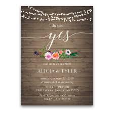 Invitation Card Format For Engagement Floral Engagement Party Invitation Archives Noted Occasions