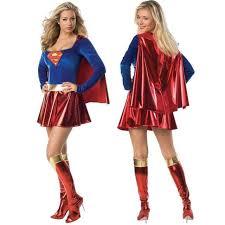 Superhero Halloween Costumes Women 2016 Supergirl Women Superwoman Dress Superhero