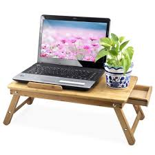 Gaming Laptop Desk by Popamazing Portable Bamboo Laptop Desk Notebook Tray Table Bed