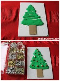 fun christmas craft idea using homemade foam paint