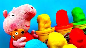 peppa pig play doh surprise easter eggs spongebob play dough
