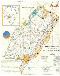 Declination Map Eagle Rock Reservation Orienteering Map June 1980 North Jersey U0027s