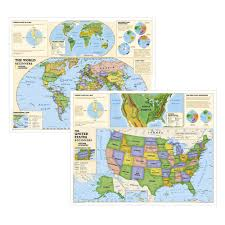 World Geography Map The World For Kids Wall Map National Geographic Store