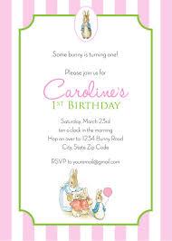 rabbit invitation rabbit birthday invitation girl personalized printable