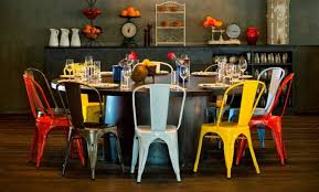Tolix Dining Chairs Mikga Tolix Style Metal Restaurant Dining Chair Bar Stool