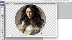 crop images in a circle shape using photoshop youtube