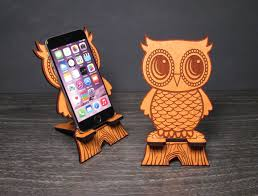 cute wooden owl phone stand universal smart phone iphone
