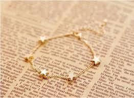 bracelet fine images New lady girls bangle simple golden filled chic heart trendy stars jpg