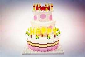 new creator diamond happy birthday cake blocks fruit sweet sugar