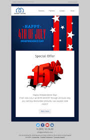 Home Decor Industry Independence Day Email Template Memorable Event For Furniture