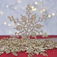 gold glitter snowflake ornaments ornaments