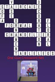 chandelier one clue crossword