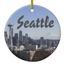 seattle ornaments keepsake ornaments zazzle