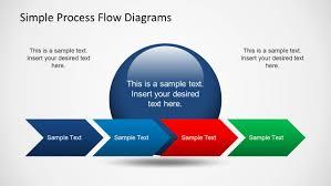 simple chevron process flow diagram for powerpoint slidemodel