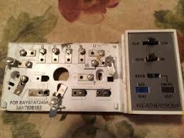 weathertron thermostat thermostat manual
