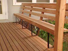 Deck Storage Bench Wood Deck With Built In Bench Decks Pinterest Decking Bench
