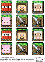 minecraft edible cake topper edible cake toppers minecraft images 1 4 sheet or cupcake by