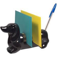 Teal Desk Accessories Dachshund Letter Holder Desk Accessories Unique Gifts Gear