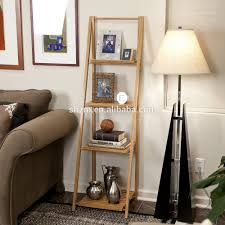 living room bamboo display storage shelves modern bamboo leaning