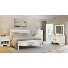 White Platform Bed Frame Dhp Manhattan Premium Faux Leather King Size Bed Frame In White