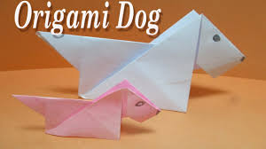 origami dog tutorial easy origami for kids diy how to make an easy