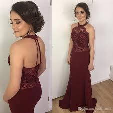 burgundy bridesmaid dresses stunning halter burgundy bridesmaid dresses 2017 lace appliques