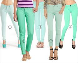 Mint Colored Skinny Jeans We Love Fridays Mint Coloured Denim