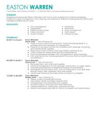 Sample Resume For Housekeeping Job In Hotel by Best Room Attendant Resume Example Livecareer