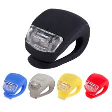 bicycle waterproofs new led bike lights silicone bicycle light head front rear wheel