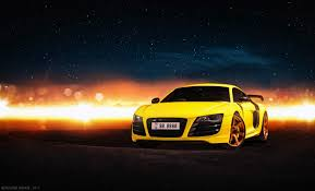 Audi R8 Yellow - audi r8 v10 wrapped in gloss yellow tuned to 610 bhp by mtm with