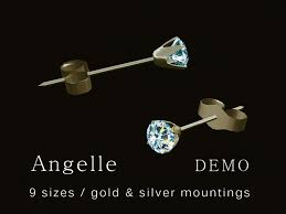 diamond stud sizes second marketplace angelle diamond stud earrings demo