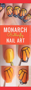 diy monarch butterfly nail diy projects for