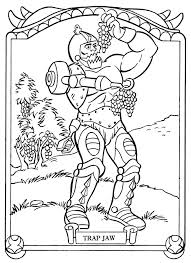 she ra coloring pages james eatock presents the he man and she ra blog trap jaw u0027s diet